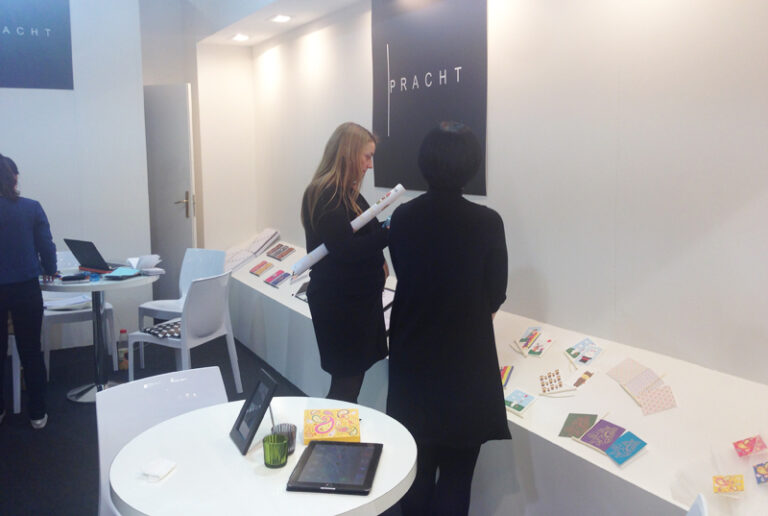 Pracht, greeting card, note card and notebook at Paperworld, Frankfurt 2014